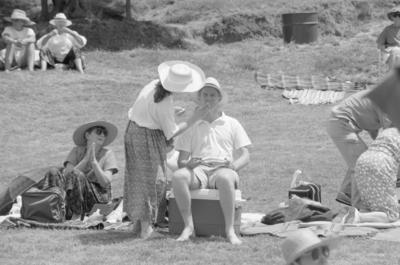 A fine Hawke's Bay day meant sunblock and hats were essential