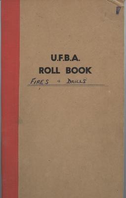 Roll book, U.F.B.A. Spit Fire Brigade