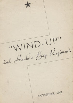 Programme, Wind-Up; Venables, Willis & Co