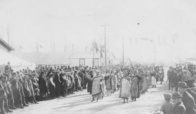 A Māori ceremony; Douglas Jones