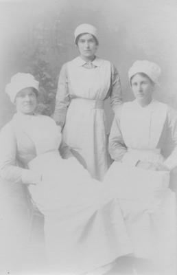 Anna Elizabeth Jerome Spencer and two unidentified nurses
