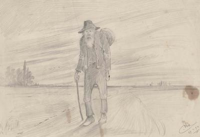 Sketch, a swagman