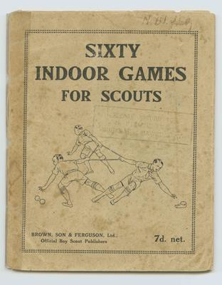 Booklet, Sixty Indoor Games for Scouts