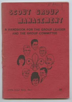 Booklet, Scout Group Management - A Handbook For The Group Leader And The Group Committee