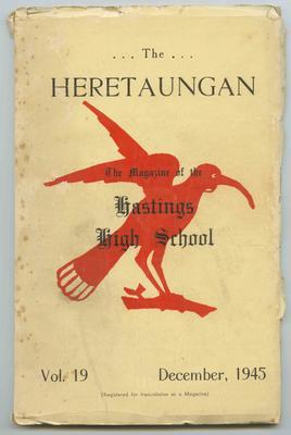 Journal, The Heretaungan, Volume 19