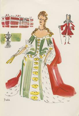 Dinner Menu, SS Orontes, Queens of England Series (Mary II)