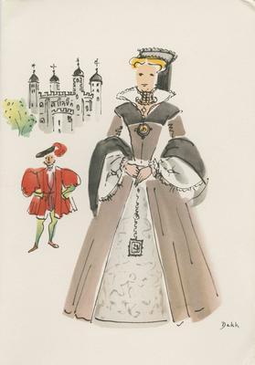 Dinner Menu, SS Orontes, Queens of England Series (Mary I); Dekk, Dorritt; 2014/16/25