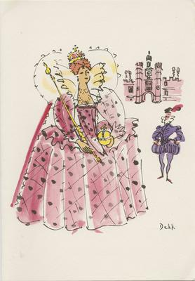 Dinner Menu, SS Orontes, Queens of England Series (Elizabeth I); Dekk, Dorritt; 2014/16/26