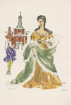 Dinner Menu, SS Orontes, Queens of England Series (Queen Anne)