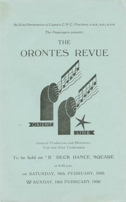 Booklet, The Orontes Revue