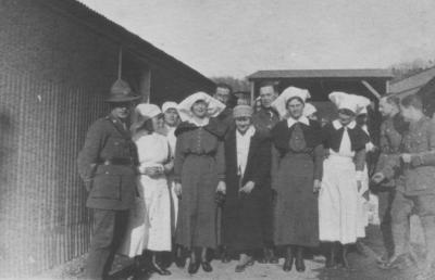 Nursing and military staff at New Zealand General Hospital, Brockenhurst.
