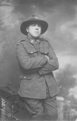 An unidentified New Zealand soldier