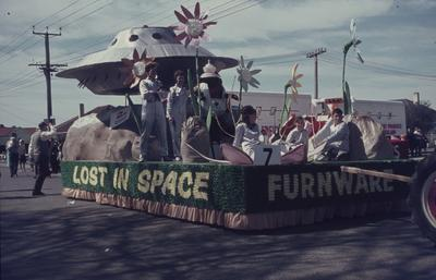 Hastings Blossom Festival parade, Furnware Lost in Space float
