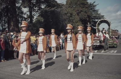 Hastings Blossom Festival parade, marching girls