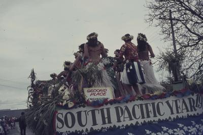 Hastings Blossom Festival parade, South Pacific float