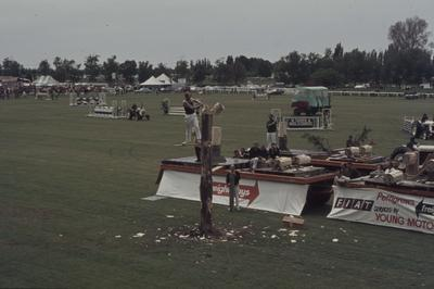 Showday at Tomoana Showgrounds, wood chopping competition
