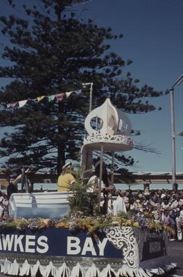 Napier Centennial parade, Hawke's Bay float