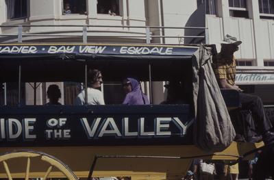 Napier Centennial parade, Napier, Bay View, Eskdale coach