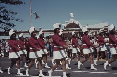 Napier Centennial parade, marching girls