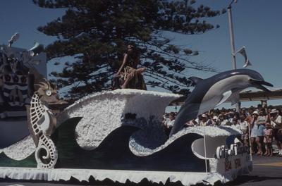 Napier Centennial parade, City of Napier float