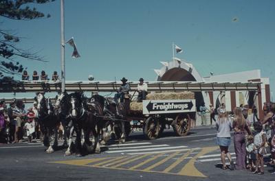 Napier Centennial parade, Freightways float