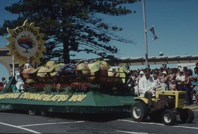 Napier Centennial parade, Hastings float