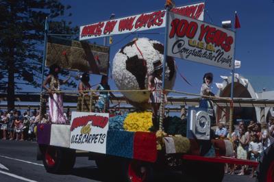 Napier Centennial parade, UEB Carpets float