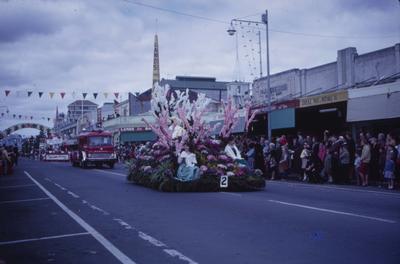Hastings Blossom Festival parade, floats