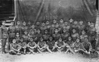 Group portrait, F Section, 11th Reinforcements, New Zealand Expeditionary Forces