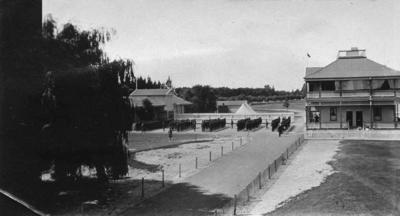 Awapuni Racecourse, soldiers from the 3rd Field Ambulance Corps