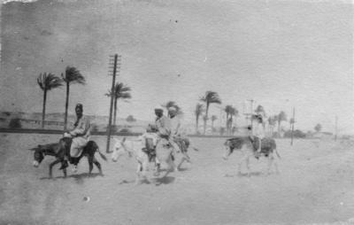 Tel el Kebir, men on donkeys