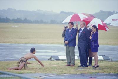 Heinz boss arrives at Airport