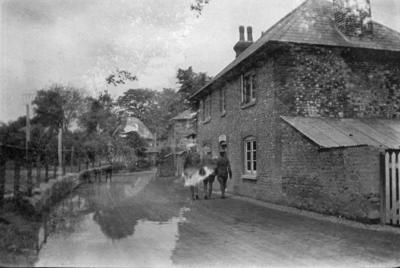 A street in Bulford, Salisbury; Bestall (MBE) Leonard Delabere