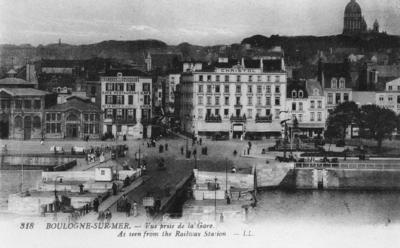 Boulogne-Sur-Mer as seen from the Railway Station