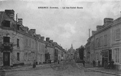 Airaines (Somme), La rue Saint-Denis