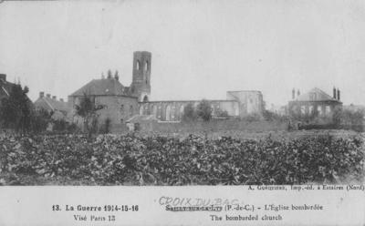 The bombarded church; Guequiere, A