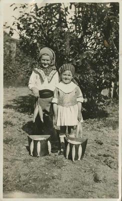 Two children in fancy dress