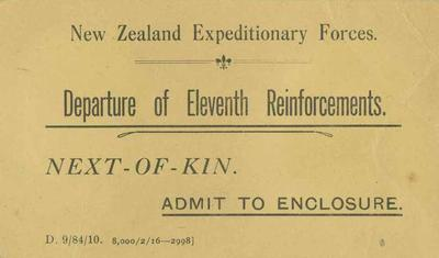 Pass, New Zealand Expeditionary Forces