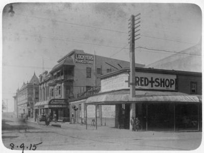 Red Cross Shop, corner of Hastings and Browning Streets, Napier