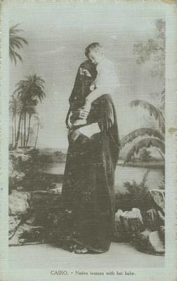 Postcard, Cairo, Native woman with her baby