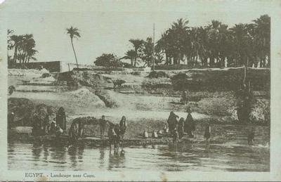 Postcard, Egypt - Landscape near Cairo