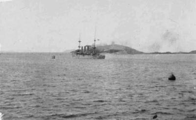 H.M.S. Encounter in Albany Harbour