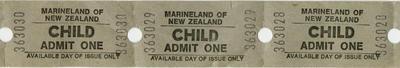 Marineland of New Zealand admission tickets; Marineland of New Zealand; 2015/9/3