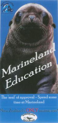 Advertising pamphlet, Marineland Education; Marineland of New Zealand; 2015/9/10