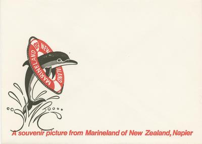 Advertising envelope, Marineland of New Zealand; Marineland of New Zealand; 2015/9/11