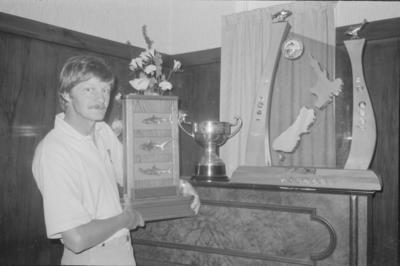 Phil Sopp with trophies