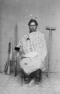 Portrait, an unidentified Māori man