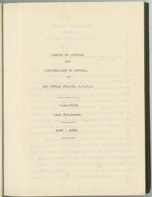 Copies of letters and continuation of journal