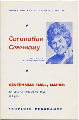 Programme, Napier Olympic Pool Coronation Ceremony