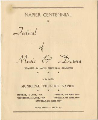Programme, Festival of Music & Dance